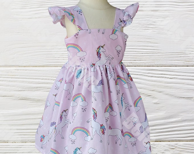UNICORN GIRL DRESS | Girl Dress  | Birthday Girls Dress |  Unicorn Birthday Outfit | Girls dress