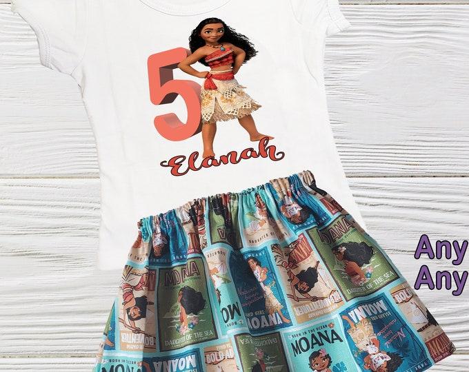 Moana Birthday outfit | Princess Moana girls first birthday | Moana inspire personalized girls outfit | Girls birthday dress | Girls clothes