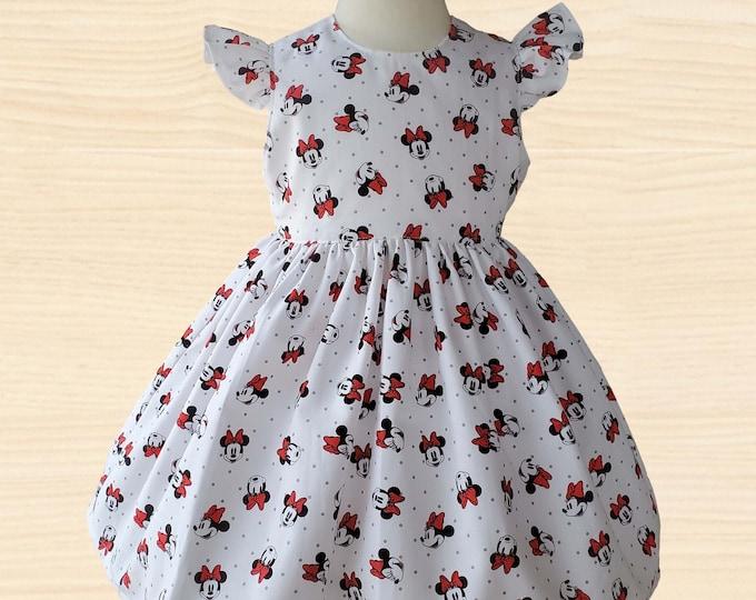 Minnie Mouse Girls Dress | Minnie Girls Dress | Disney Dress | Minnie Birthday Dress | Birthday Girl Dress | Girls Dress