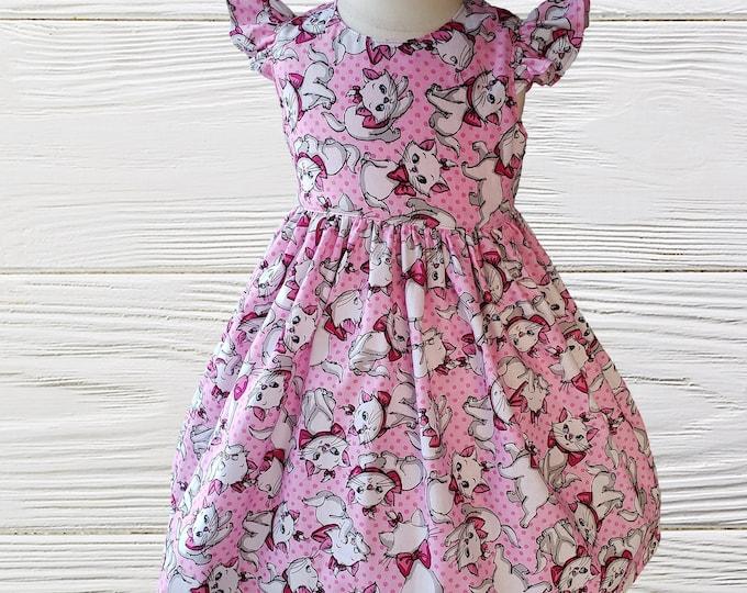 Marie Girls Dress | Girls Dress | Disney Marie Dress | Birthday Dress | Birthday Girl Dress | Girls Dress