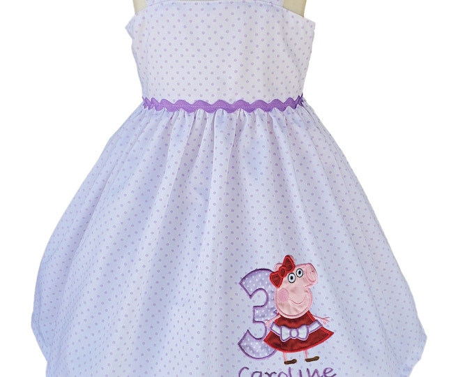 Peppa Pig dress -  Girl Dress - Peppa  Pig personalized dress -  Peppa  baby dress - Girls Peppa Pig dress