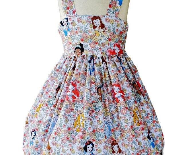 Girl's Floral Princess Dress | Birthday Princess Dress | Toddler's Dress | Girls Dress | Custom Girl's Dress