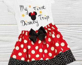 Girls First Disney Trip | Girls Minnie First Trip | Girls Minnie outfit | My first trip to Disney outfit | Toddler Minnie Disney trip