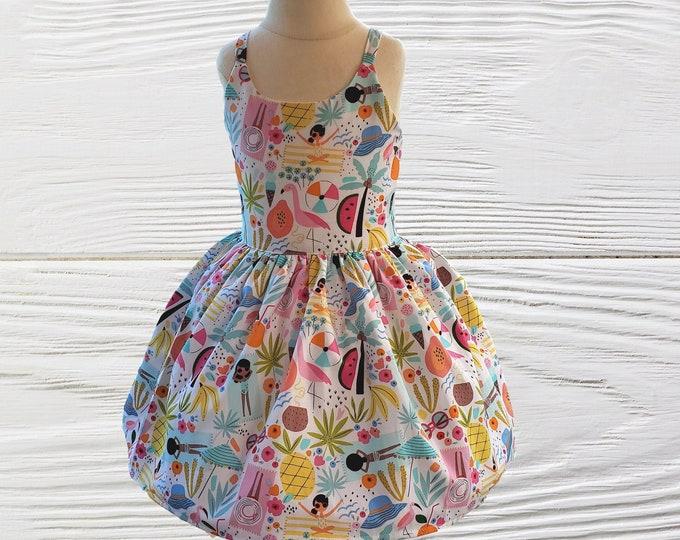 Girls dress - Birthday dress - Summer girls dress - Beach Time Besties girls dress