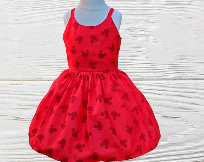Mickey Mouse Red  Dress | Girls Mickey Red Dress |  Mickey Birthday Dress | Birthday Girl Dress | Custom Dress