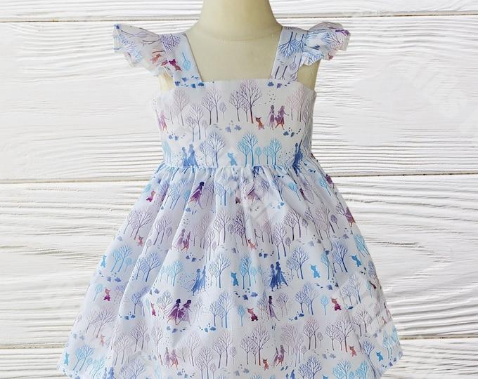 Elsa Birthday Dress - Frozen Birthday dress - Girls dress - Elsa Anna  dress - Queen Elsa dress -  Disney dress
