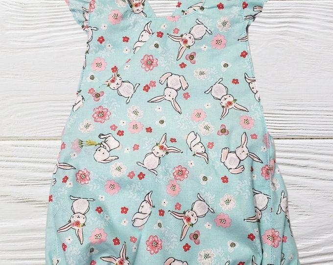 Baby girl romper - Summer romper - - Girls romper - Floral baby romper - Baby clothes - Rompers for girls