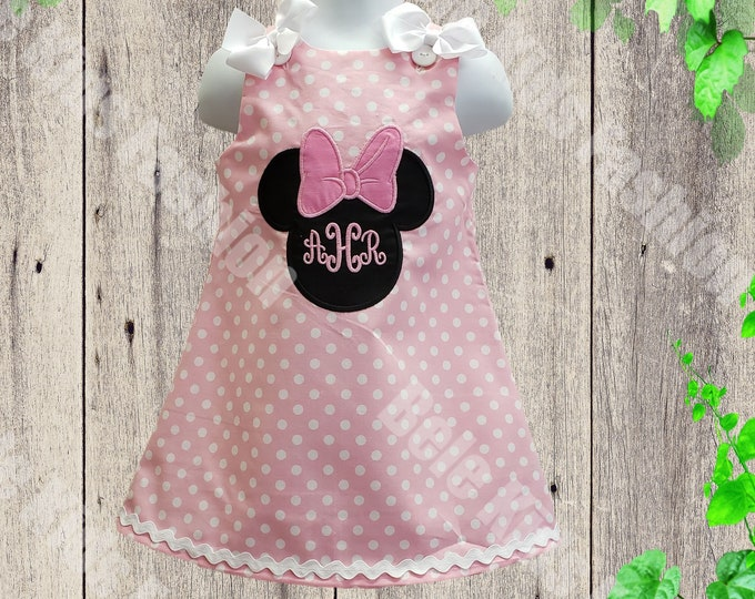 Minnie Girls Dress |  Minnie Birthday Dress | Girls Dress | Personalized Girls Dress | Girls Birthday Dress