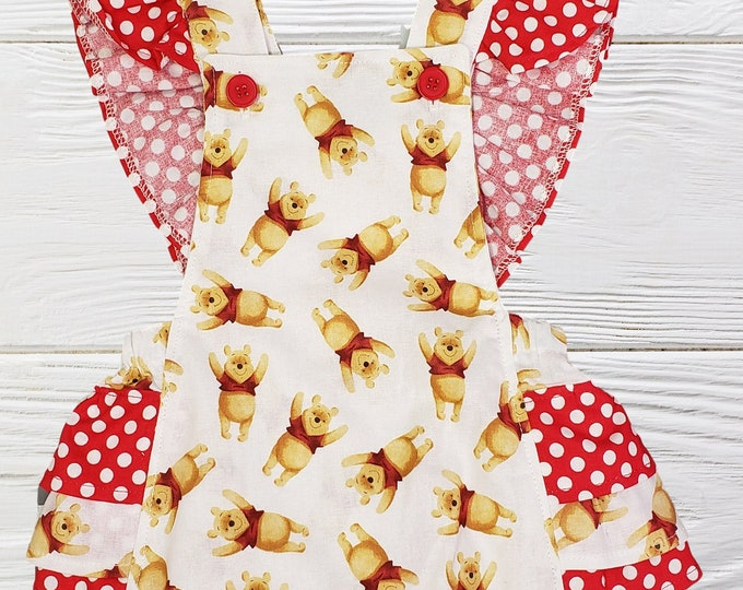 Baby girl romper | Winnie the Pooh romper | Girls romper |Pooh birthday romper | ONLY ONE READY to Ship