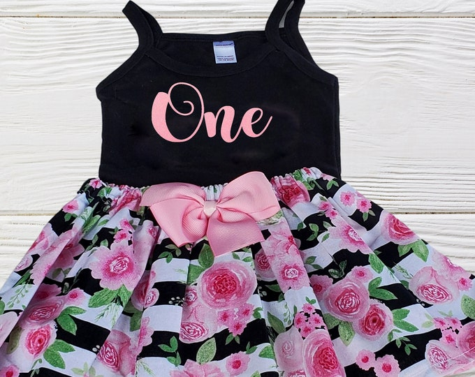 Girls Birthday Outfit | First Second Birthday Outfit | Girls Clothing Set | Baby Girls Floral Birthday Dress | Girls Outfits