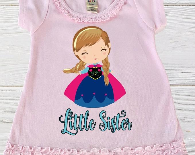 Frozen birthday dress - Anna pullover dress - Little Sister Anna girls dress - Little girls dress - Girls dress - Birthday dress