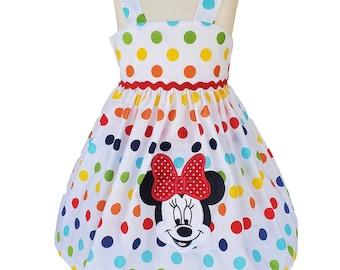 Minnie Mouse Dress   Polka Dot Dress   Disney Dress   Minnie Birthday Dress   Birthday Girl Dress   Minnie Personalized Dress   Custom Dress
