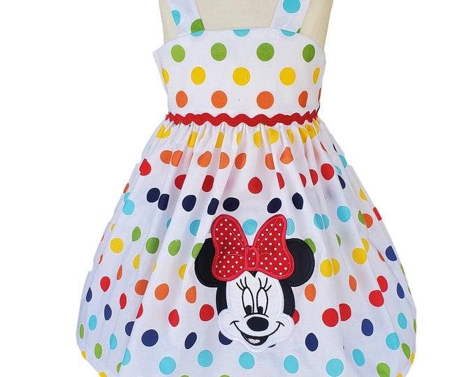 Minnie Mouse Dress | Polka Dot Dress | Disney Dress | Minnie Birthday Dress | Birthday Girl Dress | Minnie Personalized Dress | Custom Dress