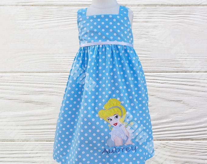 Cinderella Girls Birthday Dress | Girls Dress | Birthday Baby Girl Dress | Cinderella Blue Dress