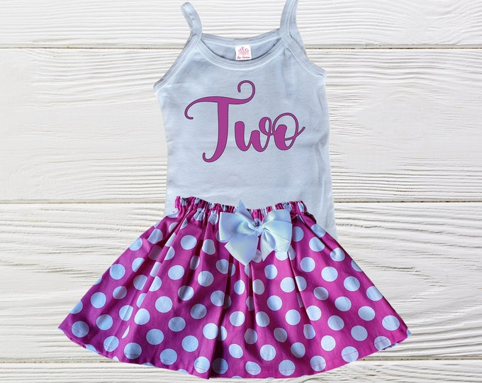 Birthday outfit - Age birthday outfit -  Girl clothing set - Summer tank top birthday outfit -  Baby outfit