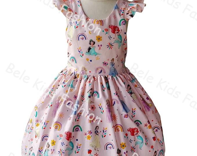 Girls Princess dress | Disney Princess birthday dress | Girls dress | Birthday  Girls dress