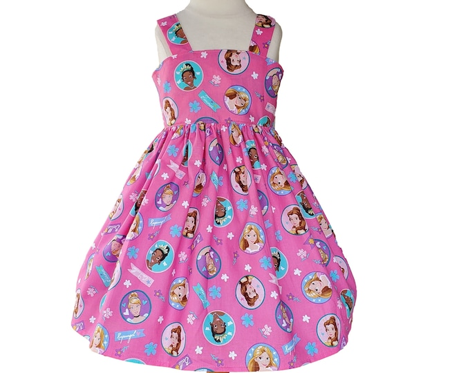 Princess dress | Disney Princess birthday dress | Girls dress |Pink Princess Dress | Birthday Girls dress |Shabby Chic Girls Dress