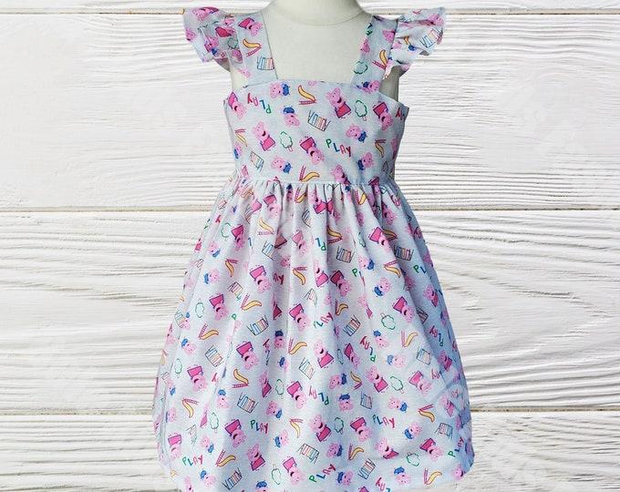 PEPPA PIG DRESS - Baby Jumper Dress - Baby Girl Clothes - Peppa Pig Outfit - Peppa Girls  Dress - Toddler Baby Dress - Peppa Pig