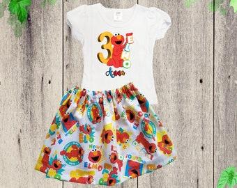 Sesame street skirt | Etsy