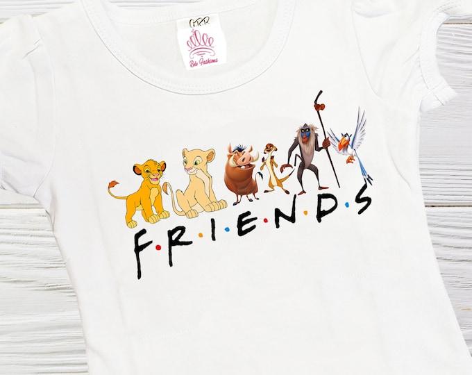 Lion King  Friends shirt - Simba Nala  and friends girls shirts - Friends shirt - Girls shirts - Lion king girl shirt