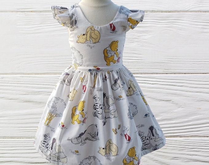 Winnie the Pooh dress |  Winnie the Pooh Girls birthday dress | Party Dress |  Girls dress | Girls birthday dress