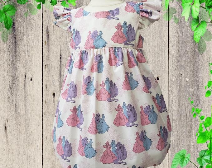 Birthday dress - Princess dress -  Girls dress -  custom dress -  toddler dress  Sample dress Ready to Ship