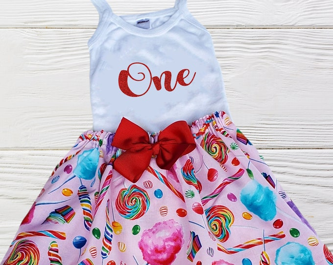 Candy Birthday Girls Outfit | Sweet One Birthday Outfit | Two Sweet Birthday Outfit | Baby Girl Candy Outfit | Baby Girls Outift