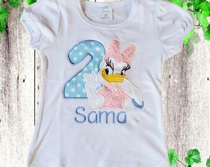 Girls birthday shirt Daisy Personalized shirt  Daisy toddler shirts  Custom girl shirt