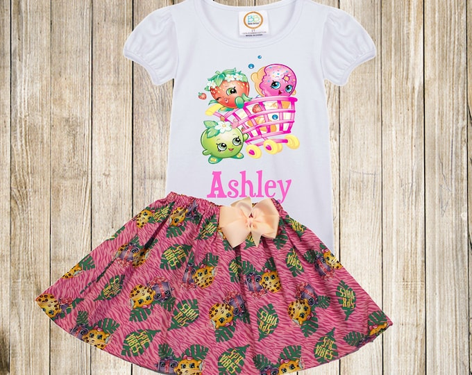 SHOPKINS BIRTHDAY OUTFIT Shopkins party dress Shopkins personalized birthday dress