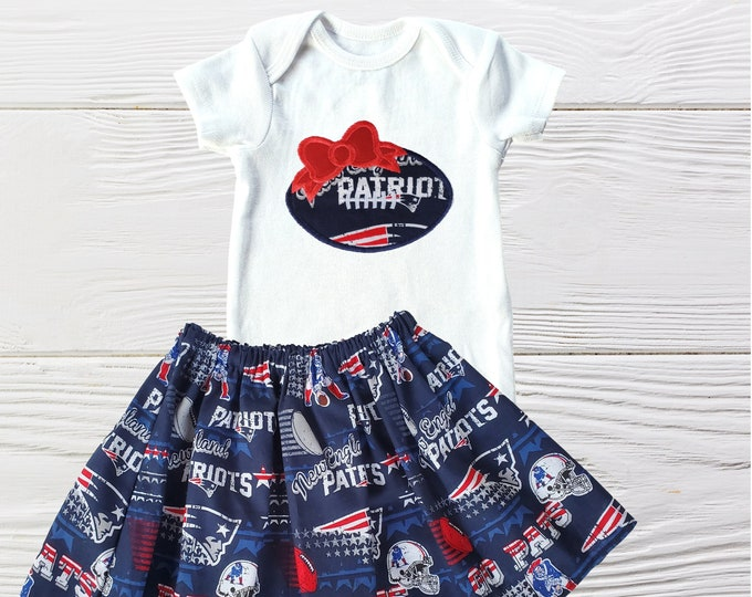New England Patriots Baby Girl Clothing | New England Girls Clothing Set | Patriots Girls Outfit | New England Patriots outfit