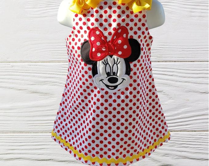 Minnie Mouse dress | Minnie birthday Dress | Personalized Minnie dress | Girl Dress  | Girls Birthday Dress