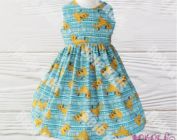 Girl's Lion King Dress | Girl's Simba Dress | Girls Birthday Dress | Handmade Girl's Dress | Girls  Dress
