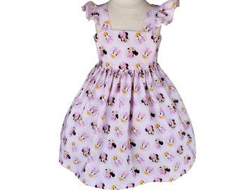 Minnie Mouse Girls Dress   Minnie Daisy Dress   Girls Birthday Dress    Girl Dress    Custom Dress