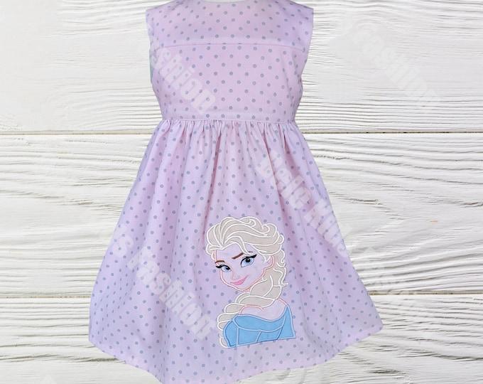 ELSA GIRL  DRESS - Frozen Elsa  Dress - Baby Girl Clothes -Elsa birthday dress - Girl Dress - Toddler Frozen Elsa Dress - Birthday  dress
