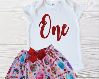Candy Birthday Girls Outfit   Baby Sweet One Birthday Outfit   Sweet Candy Birthday Outfit   Baby Girl Onesie Outfit   Baby Girls Outfits