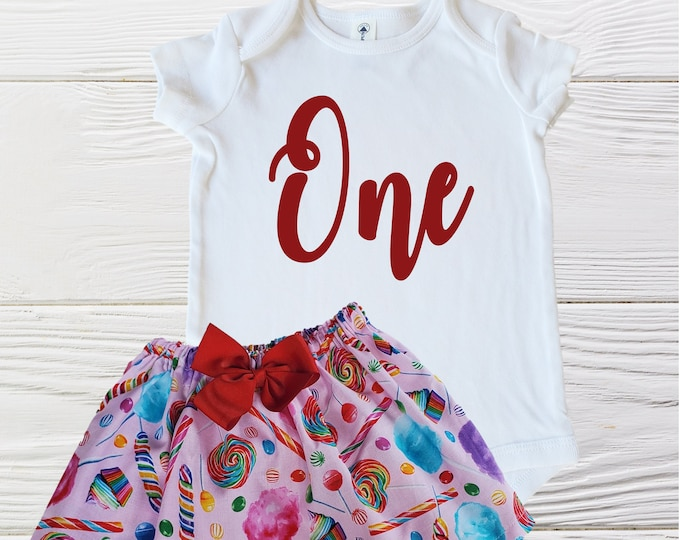 Candy Birthday Girls Outfit | Baby Sweet One Birthday Outfit | Sweet Candy Birthday Outfit | Baby Girl Onesie Outfit | Baby Girls Outfits
