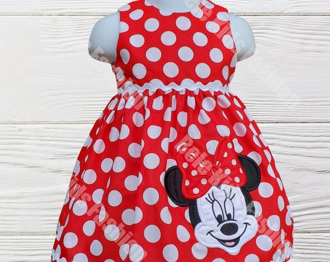MINNIE MOUSE DRESS -Birthday girls Minnie dress - First birthday dress - Girls dress  - Minnie dress -  Minnie Mouse Personalized dress