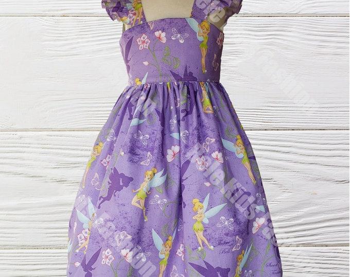 Tinkerbell girl dress | Girls  Birthday Tinkerbell dress | Girl Dress | Tinkerbell  dress | Girls Birthday dress