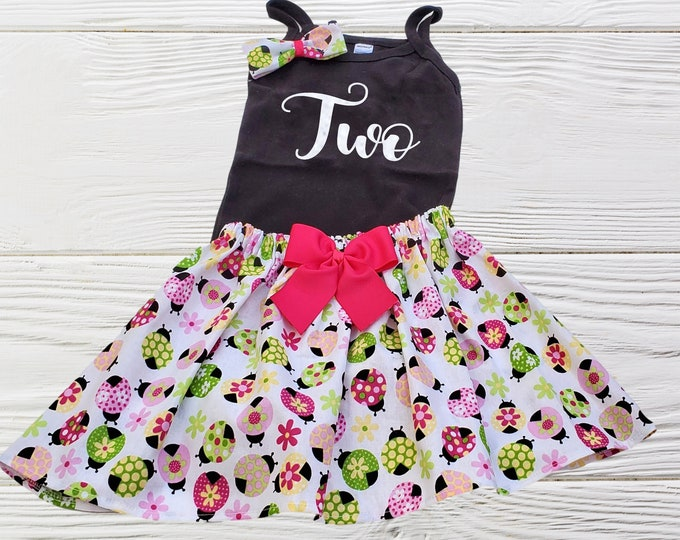 Ladybug Birthday outfit |  Baby First Birthday | Girls Age Dress | Ladybug  Girls Dress | Personalized girls  Outfit |Girls clothes set