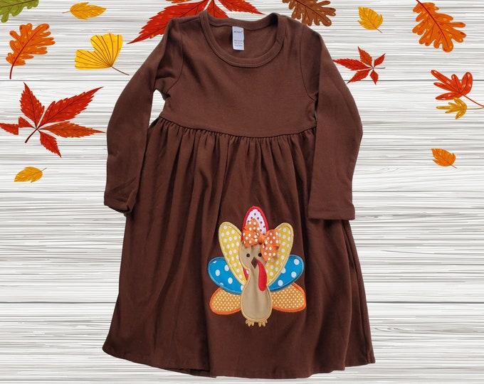 Girls Thanksgiving dress | Harvest  Baby Girls Dress | Long Sleeve Thanksgiving Girl Dress | Knit Girls dress | Long Sleeve Girls Dress