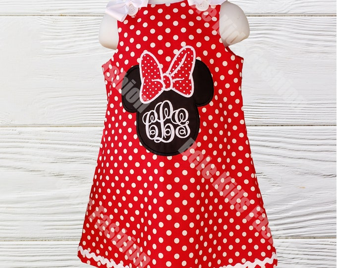Minnie Mouse Dress |  Minnie Girls Birthday Dress | Girls Birthday Dress  | Girls Dress | Personalized  Dress |