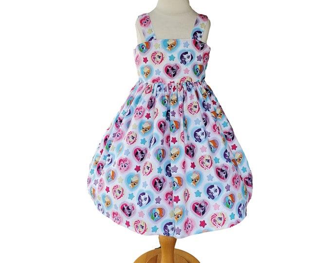 My Little Pony dress | Little Pony birthday dress | Girls dress | Little Pony Girls Dress | Birthday Girls dress | My Little Pony Dress