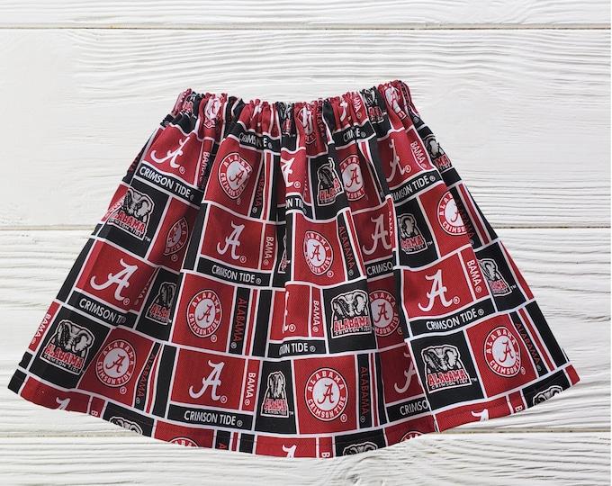 University of Alabama Skirt | Crimson Tide Girls  skirt |Alabama Crimson Tide Girls Skirt | Girls  Skirts | Alabama Crimson Tide Skirts