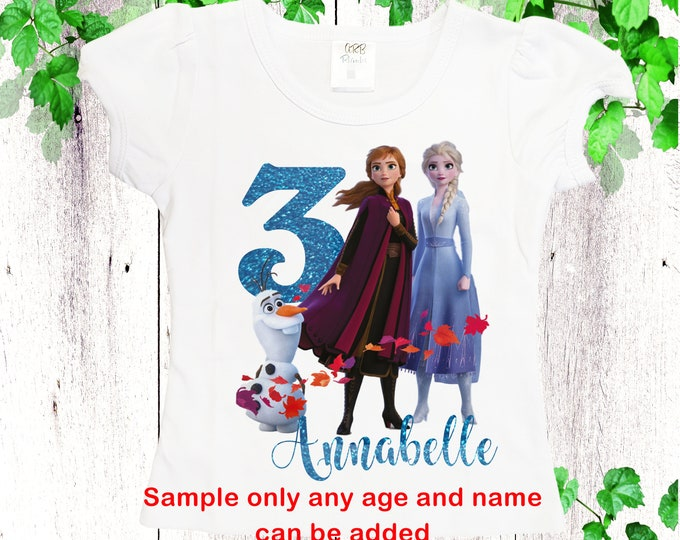 Birthday Frozen shirts Personalized Elsa Anna girls shirt  Winter queen shirt Custom shirts