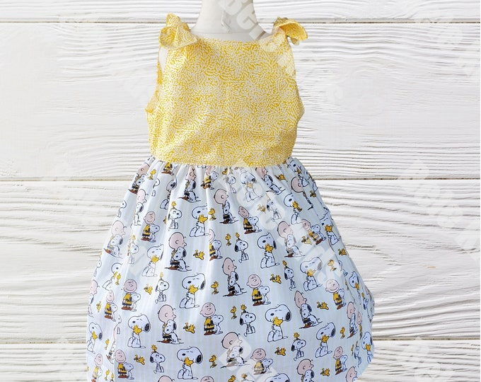 Charlie Brown Snoopy Dress - Peanuts Woodstock summer Dress -  Birthday  Dress - Snoopy girls dress - Girls dresses