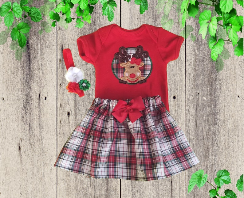 Christmas Onesies outfit Baby Christmas dress Christmas Reindeer outfit Personalized Christmas outfit