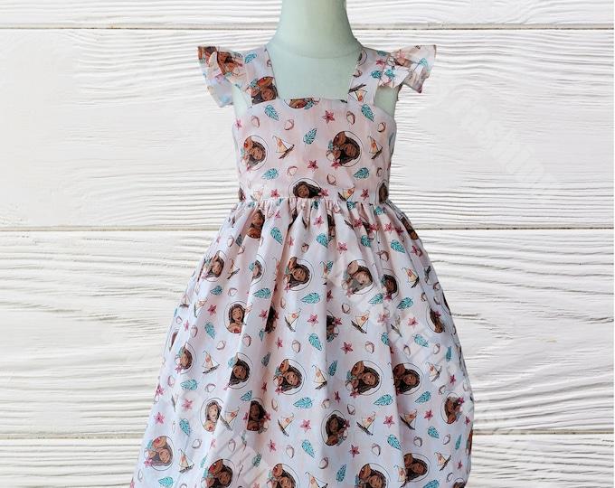 Moana Girls Birthday Dress |  Moana Dress  | Moana Girls dress | Girls dress | Girls Birthday dress