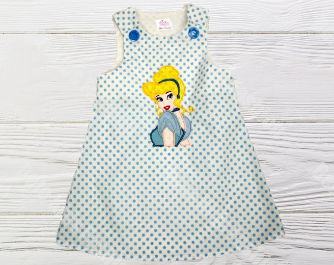 Cinderella Birthday Dress | Girls Cinderella Dress | Girls Dress | Princess Cinderella Jumper Dress | Birthday Dress