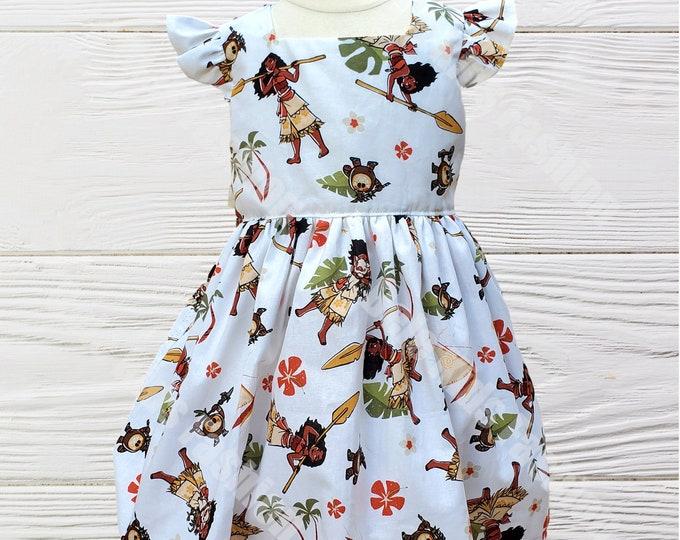 Moana Dress | Birthday Girl's Dress | Moana Birthday Dress | Girls  Dress | Moana Girls dress
