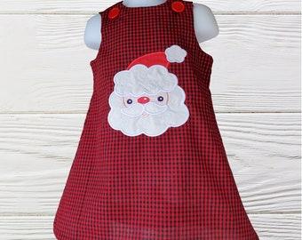 Christmas Girl Dress   Santa Claus  Baby Girl Dress   Holiday Girls Dress   Christmas Personalized Dress   Girls jumper dress  Girls dresses